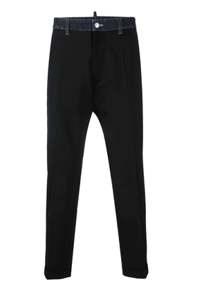 Dsquared2 contrast tailored trousers - Black