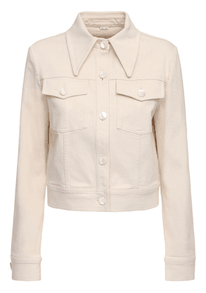 Stretch Cotton Drill Jacket W/ Label