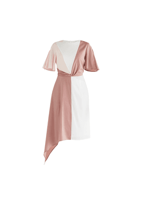 PAISIE - Dione Panel Dress In Pink