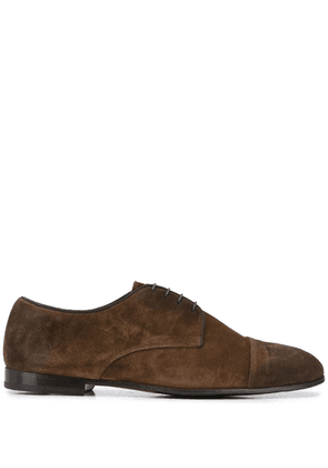 Doucal's leather lace-up shoes - Brown