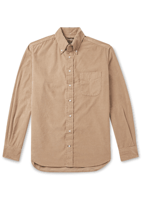 Gitman Vintage - Button-Down Collar Cotton-Corduroy Shirt - Men - Neutrals