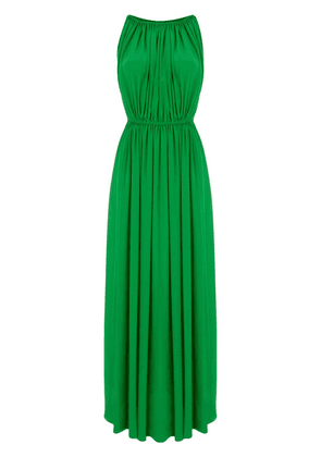 Gianluca Capannolo pleated long dress - Green