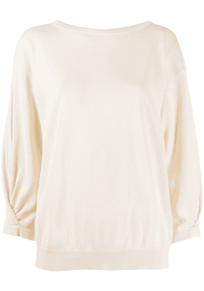 Fabiana Filippi brass-embellished crew-neck jumper - NEUTRALS