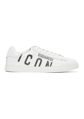 Dsquared2 White and Black Icon New Tennis Sneakers