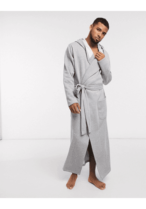 ASOS DESIGN long dressing gown in super soft grey jersey
