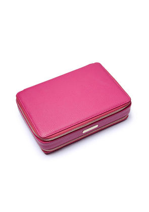Fuschia Pink Large Jewellery Travel Case