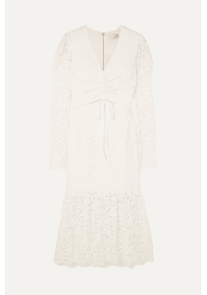Rebecca Vallance - Le Saint Ruched Lace Dress - Ivory