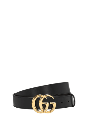 3cm Gg Leather Belt