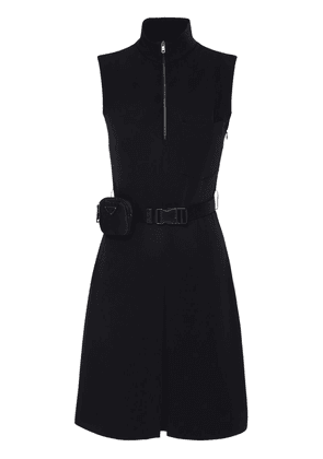 Techno Knee Lenght Belted Dress W/ Pouch