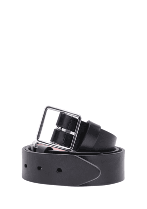 3.5cm Double Buckle Leather Belt