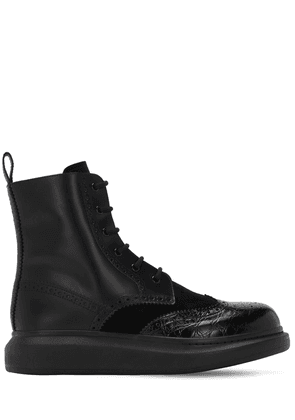Brogue Leather Lace-up Boots