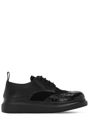 Brogue Leather Lace-up Shoes