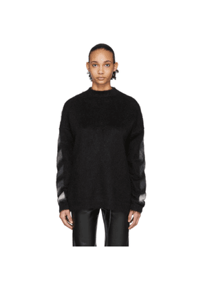Off-White Black Brushed Mohair Sweater