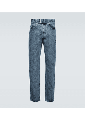 Belted relaxed-fit jeans