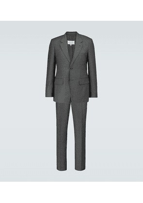 Single-breasted wool flannel suit