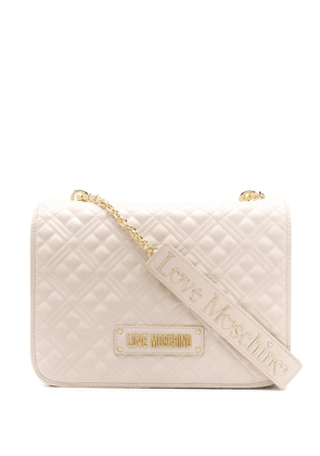 Love Moschino large quilted-effect shoulder bag - NEUTRALS