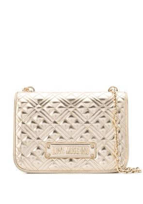 Love Moschino large quilted shoulder bag - GOLD