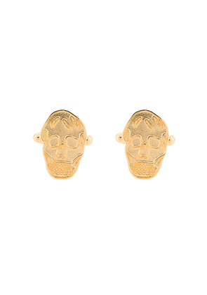 Alexander McQueen skull patterned cufflinks - GOLD