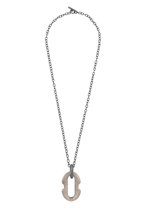 Parts of Four Deco link necklace - Grey