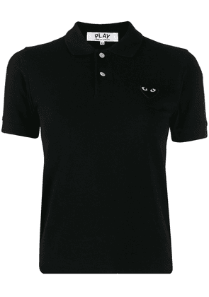 Comme Des Garçons Play embroidered heart polo shirt - Black