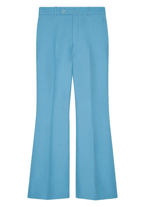 Gucci flared cropped trousers - Blue