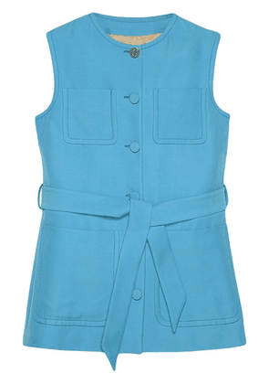 Gucci patch-pocket belted vest - Blue
