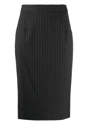 Dolce & Gabbana pinstriped pencil skirt - Black