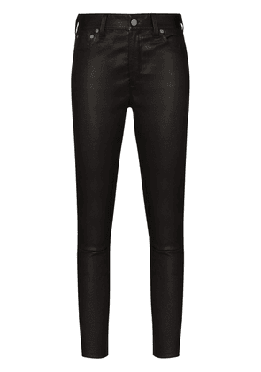 Polo Ralph Lauren leather skinny trousers - Black