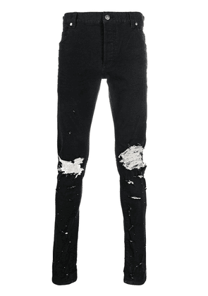 Balmain distressed skinny jeans - Black