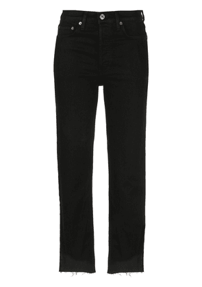 RE/DONE high-waisted Stove Pipe jeans - Black