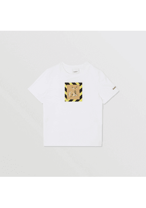 Burberry Childrens Deer Print Cotton T-shirt, White