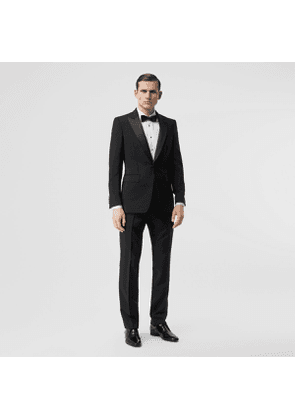 Burberry English Fit Mohair Wool Tuxedo, Black