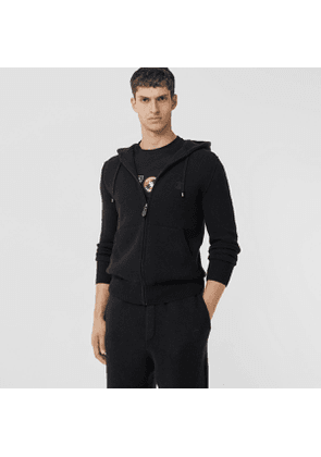 Burberry Monogram Motif Cashmere Blend Hooded Top, Black