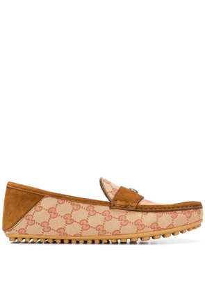 Gucci logo driving loafers - Brown