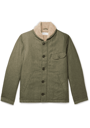 Universal Works - N1 Fleece-Lined Cotton-Twill Jacket - Men - Green