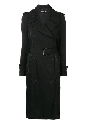 Tom Ford double breasted trench coat - Black