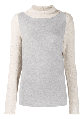 Fabiana Filippi sequin panel jumper - NEUTRALS