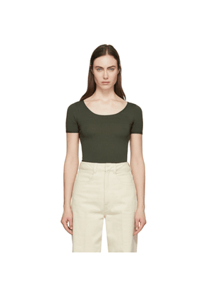 Lemaire Green Second Skin Short Sleeve Pullover