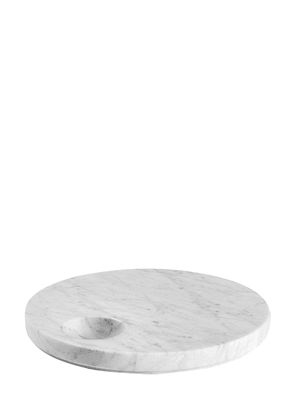 Ellipse Carrara Marble Tray