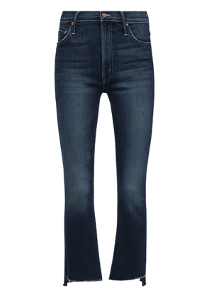 The Insider Crop Step Frayed Denim Jeans