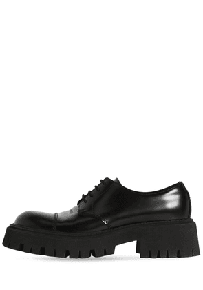 Tractor Leather Lace-up Shoes