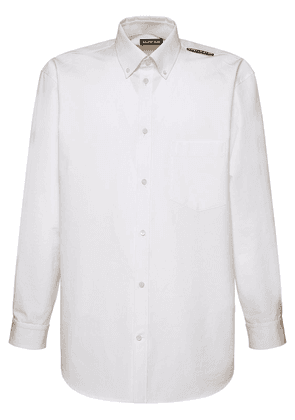 Logo Tag Cotton Poplin Shirt