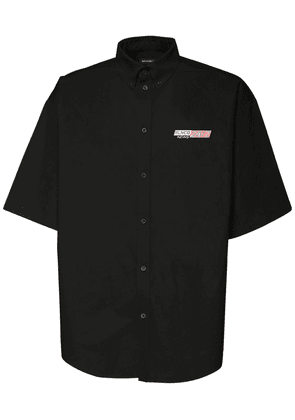 Over Logo News Embroidery Poplin Shirt