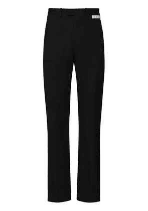 'suiting' Embr Wide Leg Wool Blend Pants