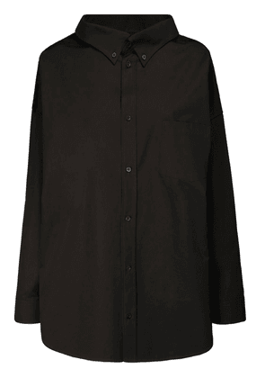 Oversize Cotton Poplin Shirt W/logo