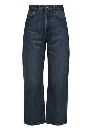 Cotton Denim Carrot Leg Crop Jeans