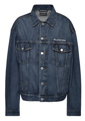 Cotton Denim Jacket W/ Logo Embroidery