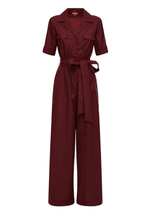 Recycled Nylon Jumpsuit W/ Belt