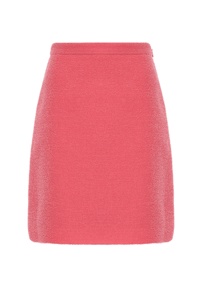Gg Wool Blend Tweed Mini Skirt