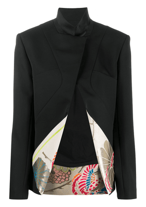 Haider Ackermann floral lined fitted blazer - Black